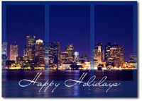 Boston Skyline (25 cards & envelopes) - Boxed Holiday Cards