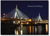 Zakim Bridge (25 cards & envelopes) Personalized Boston Massachusetts Boxed Holiday Cards