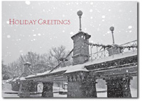 Pedestrian Bridge (25 cards & envelopes) Personalized Boston Massachusetts Boxed Holiday Cards