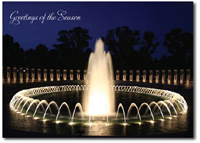 World War II Memorial (25 cards & envelopes) Personalized Washington, DC Boxed Holiday Cards