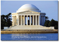 Thomas Jefferson Memorial (25 cards & envelopes) Personalized Washington, DC Boxed Holiday Cards