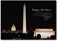 Night Shot of Washington, DC (25 cards & envelopes) - Boxed Holiday Cards