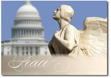 Winged Figure of Democracy (25 cards & envelopes) - Boxed Holiday Cards
