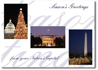 Nation's Capital (25 cards & envelopes) Personalized Washington, DC Boxed Holiday Cards