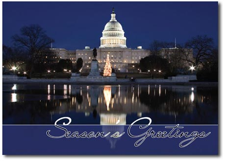 The Capitol at Christmastime (25 cards & envelopes) - Boxed Christmas Cards