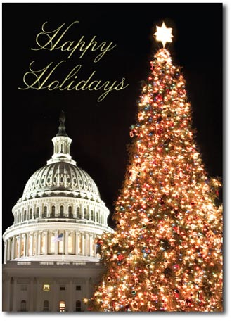 Christmas at the Capitol (25 cards & envelopes) Personalized Washington, DC Business Boxed Christmas Cards