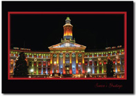 Denver City (25 cards & envelopes) Personalized Colorodo Boxed Holiday Cards