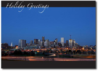 Denver Skyline (25 cards & envelopes) - Boxed Holiday Cards