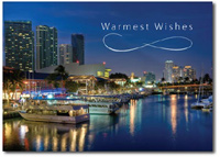 Miami Bayside Market & Marina (25 cards & envelopes) Personalized Florida Boxed Holiday Cards