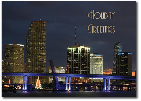 Miami at Night (25 cards & envelopes) - Boxed Holiday Cards