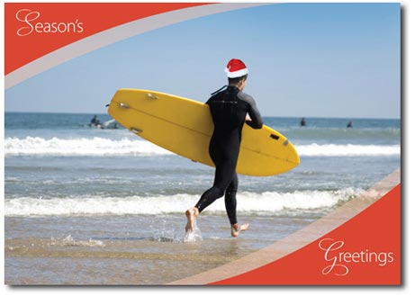 Surf's Up! (25 cards & envelopes) Personalized Tropical Boxed Holiday Cards