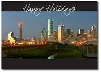 Downtown Dallas (25 cards & envelopes) Personalized Texas Boxed Holiday Cards
