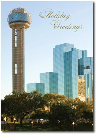 Reunion Tower (25 cards & envelopes) Personalized Dallas Texas Boxed Holiday Cards