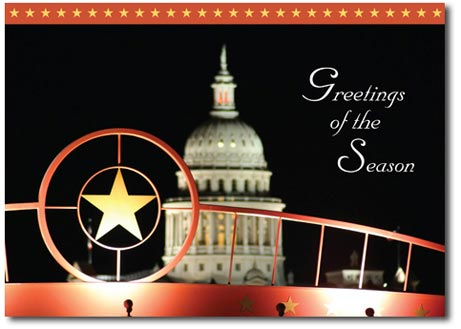 Texas Capitol Building (25 cards & envelopes) Personalized Austin Boxed Holiday Cards