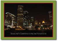 Houston at Night (25 cards & envelopes) Personalized Texas Boxed Holiday Cards