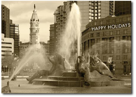 Swann Fountain (25 cards & envelopes) - Boxed Holiday Cards