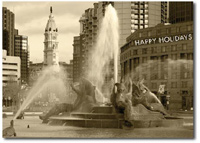 Swann Fountain (25 cards & envelopes) Personalized Philadelphia Boxed Holiday Cards