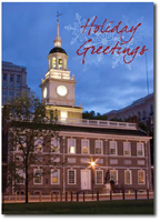 Independence Hall (25 cards & envelopes) Personalized Philadelphia Boxed Holiday Cards