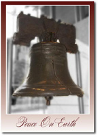 The Liberty Bell (25 cards & envelopes) Personalized Philadelphia Boxed Holiday Cards