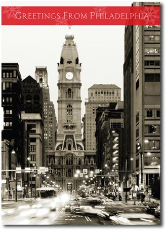 Philadelphia City Hall (25 cards & envelopes) - Boxed Holiday Cards