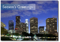 Los Angeles at Night (25 cards & envelopes) Personalized Business Boxed Holiday Cards