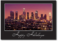 Downtown Los Angeles (25 cards & envelopes) Personalized Business Boxed Holiday Cards