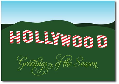 Greetings from Hollywood (25 cards & envelopes) Personalized Los Angeles Boxed Holiday Cards