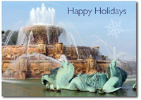 Buckingham Water Fountain (25 cards & envelopes) - Boxed Holiday Cards