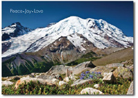 Mount Rainer (25 cards & envelopes) - Boxed Holiday Cards