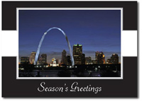 Saint Louis Skyline (25 cards & envelopes) Personalized St Louis Missouri Boxed Holiday Cards