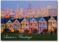 Alamo Square (25 cards & envelopes) Personalized San Francisco Boxed Holiday Cards