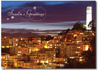Coit Tower (25 cards & envelopes) Personalized San Francisco Boxed Holiday Cards