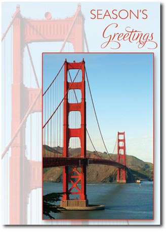 Golden Gate Bridge (25 cards & envelopes) Personalized San Francisco Boxed Holiday Cards