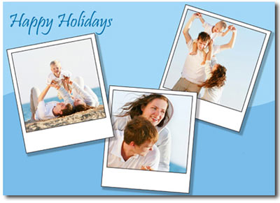 Happy Holidays Photo Trio (25 cards & envelopes) - Boxed Christmas Cards
