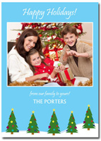 Personalized Christmas Tree Photo Card (25 cards & envelopes)  Boxed Christmas Cards