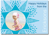 Personalized Photo Card Blue Snowflake (25 cards & envelopes)  Boxed Christmas Cards