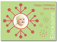 Personalized Photo Card Red Snowflake (25 cards & envelopes)