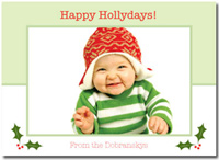 Happy HOLLYdays! (25 cards & envelopes)  Boxed Christmas Cards