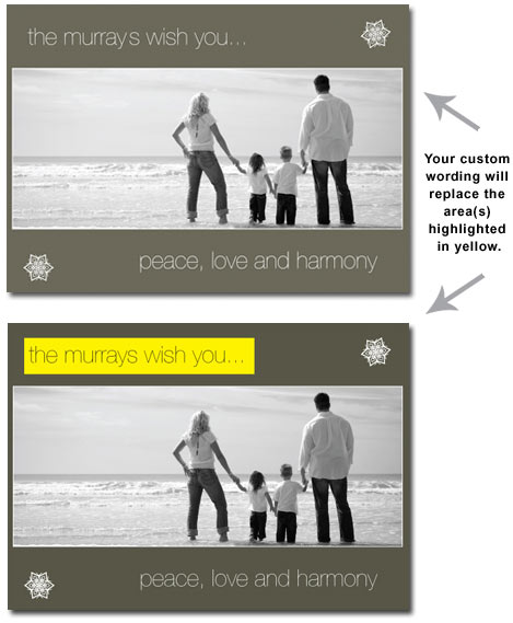 Customized Gray Photo Card (25 cards & envelopes) - Boxed Christmas Cards