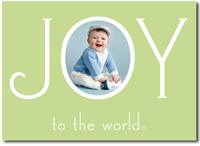 Joy to the World Photo Card in Mint (25 cards & envelopes)