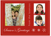 Customized Photo Card in Red (25 cards & envelopes) - Boxed Christmas Cards