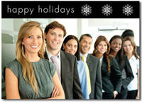 Happy Holidays Photo Card in Black (25 cards & envelopes)