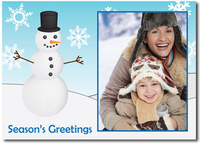 Snowman Photo Card (25 cards & envelopes) - Boxed Christmas Cards