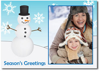 Snowman Photo Card (25 cards & envelopes)  Boxed Christmas Cards