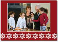 Star of David Photo Card (25 cards & envelopes) - Boxed Hanukkah Cards