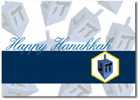 Happy Hanukkah with Dreidel (25 cards & envelopes) - Boxed Hanukkah Cards
