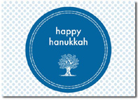 Happy Hanukkah in Blue (25 cards & envelopes) Personalized Boxed Hanukkah Cards