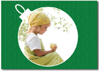 Ornament Photo Card in Green (25 cards & envelopes)