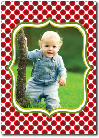 Photo Card with Dots (25 cards & envelopes) Boxed Christmas Cards