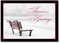 Snowy Bench (25 cards & envelopes) - Boxed Holiday Cards